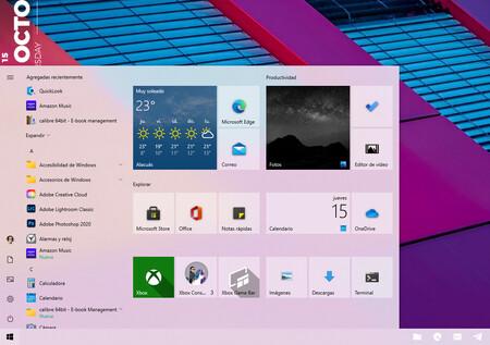Windows 10 Nuevo Menu Inicio