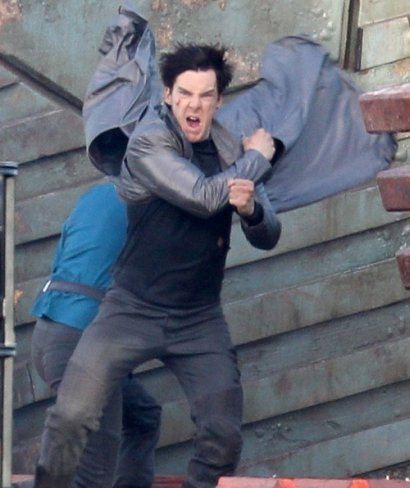 Benedict Cumberbatch en el set de Star Trek 2