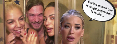 Mayka ('La Isla de las Tentaciones'), enfadadísima con Tony Spina por meterse en la ducha desnudo con Cristini y Rebeca en 'La Casa Fuerte'