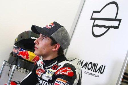 Marc Márquez entrenendo en Jerez con la Moto2