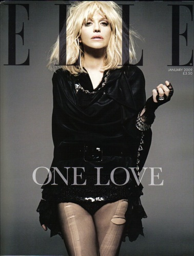 La moda tiembla, Courtney Love portada de Elle UK en enero