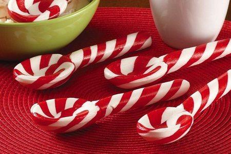 Cucharas de caramelo en Navidad
