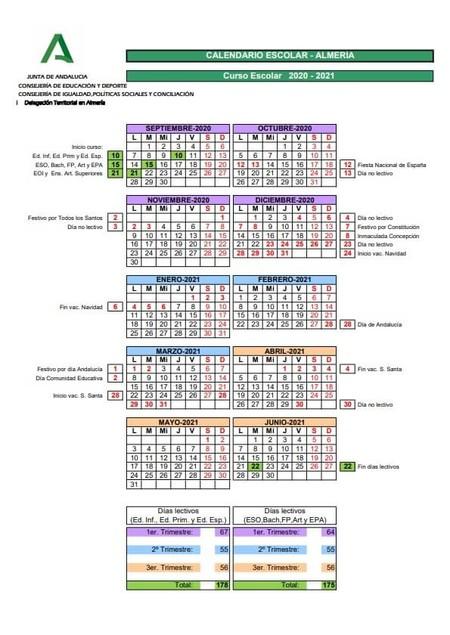 CalendarioEscolar2020-2021-Almeria