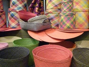 Caña de azúcar, decoración de comercio solidario, vuelve para la temporada de primavera