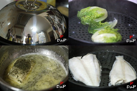 Hacer Gallos al vapor y cogollos en salsa