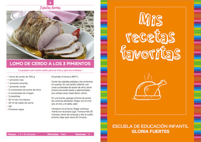 Mis recetas favoritas un libro de recetas de ni os para ni os - Cocina facil para ninos ...