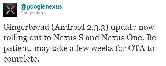 Twitter oficial de Google Nexus