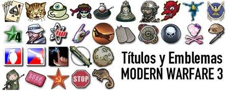 Títulos y emblemas de 'Call of Duty: Modern Warfare 3'. Los cinco más difíciles de conseguir