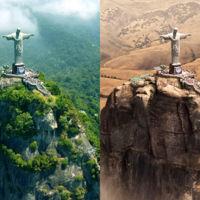 ¿Cómo lucirían 11 lugares emblemáticos del mundo ante una devastadora sequía?