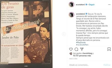 Toni Acosta Pau Dones Nota El Pais