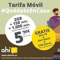 Móvil, televisión y servicio de telemedicina, nueva tarifa de Ahímas por 5,90 euros