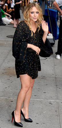 Mary-Kate Olsen en el Show de David Letterman