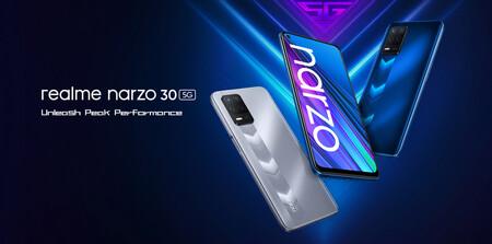 El Realme Narzo 30 5G aterriza en España: precio y disponibilidad del nuevo móvil 5G económico de Realme