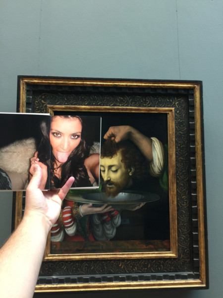 Kim At The Museum Kardashian Selfie 1