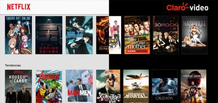Netflix Clarovideo Interfaz