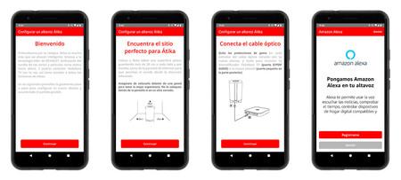 La configuración de Átika desde la app para Android