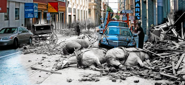 El gran terremoto de 1906 en San Francisco recreado con Photoshop