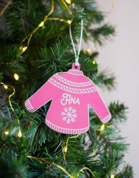 Adorno Navidad Personalizado Jersey Nombre