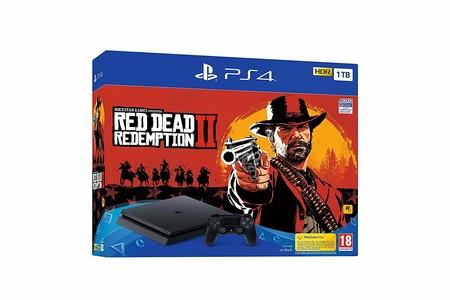 Consola Sony PlayStation 4 de 1TB, con el juego Red Dead Redemption II, por sólo 249 euros en MediaMarkt