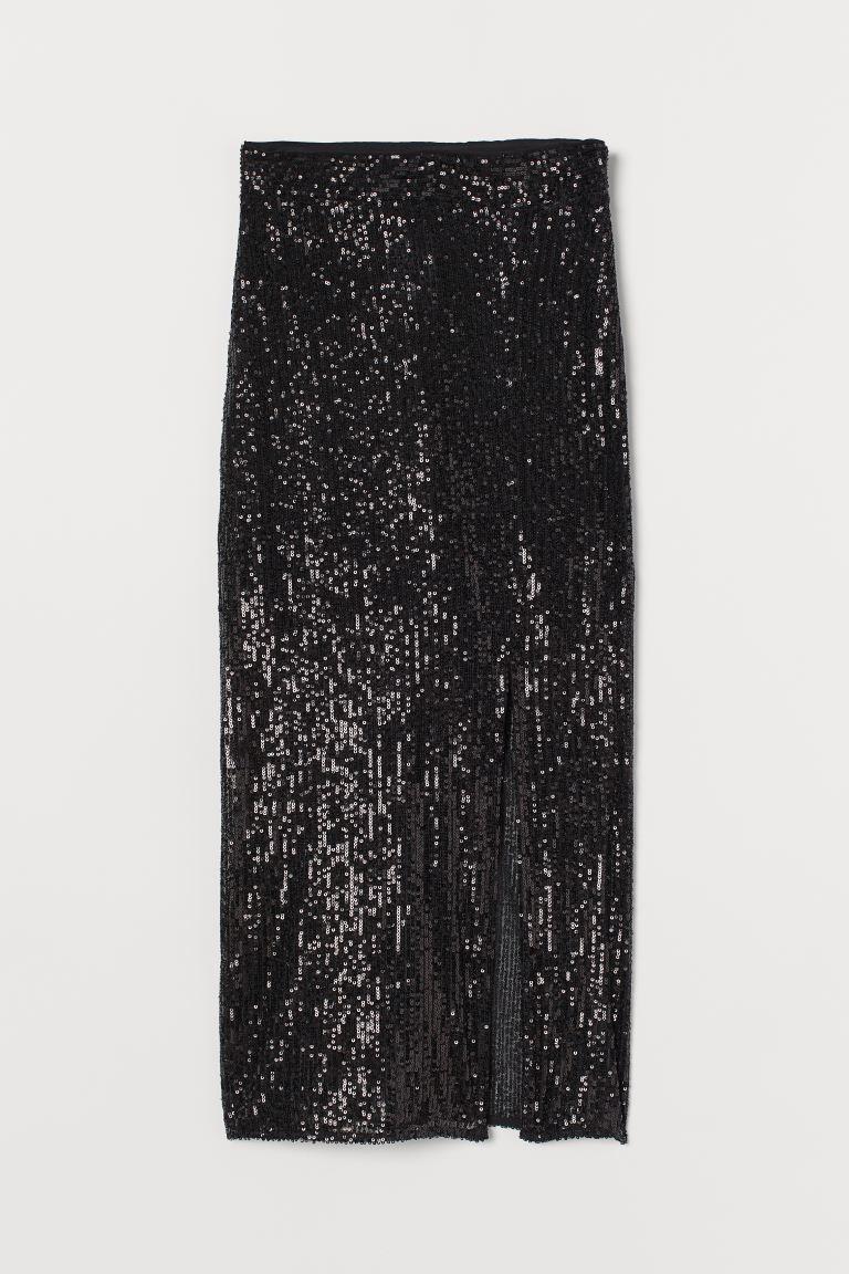 Falda de lentejuelas