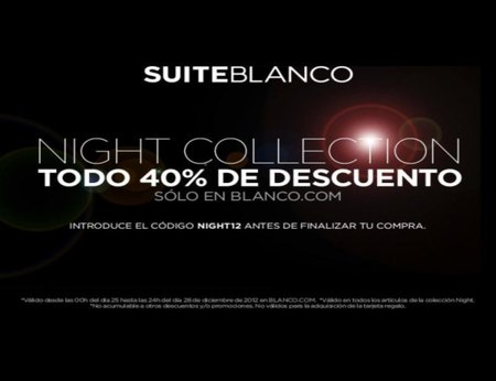 Blanco te propone su Night Collection con un 40% de descuento