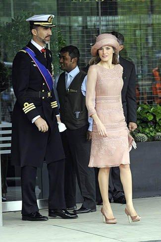 El look de la princesa Letizia en la boda real del príncipe Guillermo y Kate Middleton