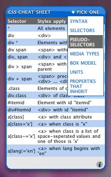 """CSS Cheat Sheet: Widget """"chuleta"""" que nos ayudará a iniciarnos en el CSS"""
