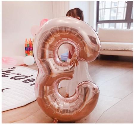 Globos con número de cumpleaños