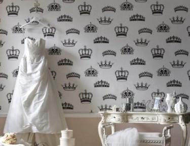 Papel pintado inspirado en la boda real inglesa