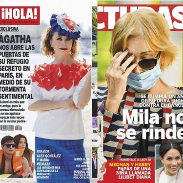 María Pedraza y Álex González como dos tortolitos, la recuperación de Carmen Borrego y Toñi Moreno hasta en la sopa: estas son las portadas de la semana del 9 de junio