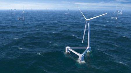 Se prepara la primera turbina eólica flotante del Atlántico