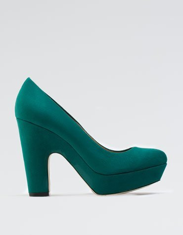 zapato teal bershka