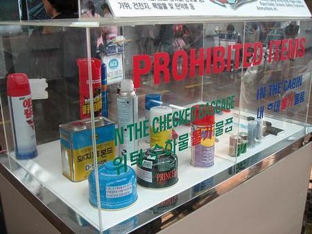 Equipaje de mano: productos prohibidos