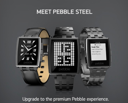 Pebble nos da la noticia del nuevo Pebble Acero