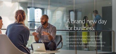 """Apple consolida sus esfuerzos en el mundo empresarial rediseñando su sección """"Mac in Business"""""""