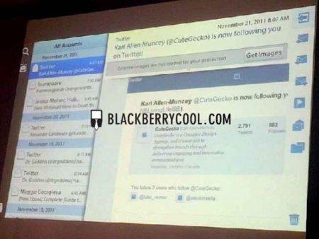 RIM mostró rápidamente las aplicaciones nativas de calendario y correo para la Playbook