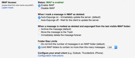 ¿Usas Gmail en algún cliente de correo con IMAP? Revisa antes estos cinco ajustes de la web oficial