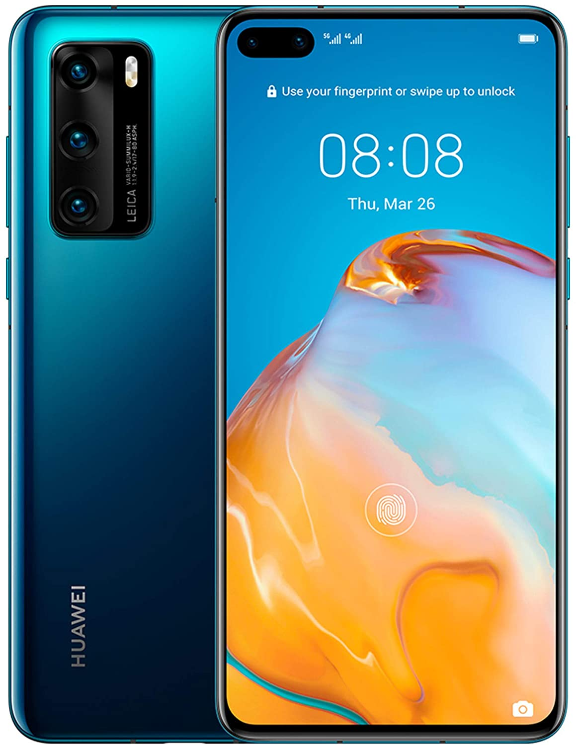 "HUAWEI P40, 128 GB, Smartphone 6.1"", OLED, 50+16+8 MP, 8 GB RAM, Color Azul"
