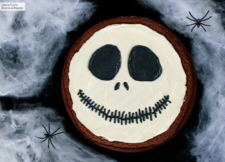 Tarta de chocolate Jack Skellington: receta de Halloween