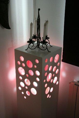Hazlo tú mismo: una lámpara a partir de un pedestal desechado