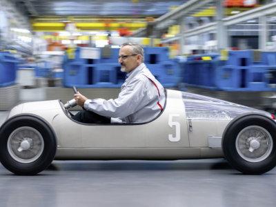 Este Auto Union Typ C a escala está impreso en 3D