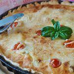 Pastel de atún con vegetales y queso manchego. Receta sencilla
