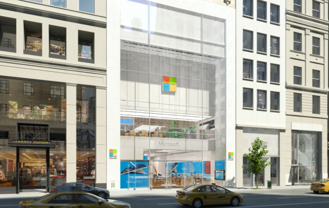 Rendering Of Microsoft On Fifth Ave