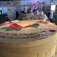 Este es el mazapán más grande del mundo, fue hecho en México y pesa más de 8,000 kilogramos