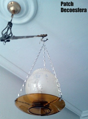 Lámpara hecha con una romana 2
