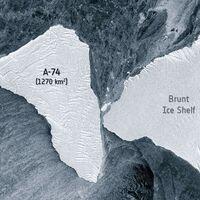 Un iceberg de casi el tamaño de CDMX por poco se estrella contra una plataforma de hielo en la Antártida