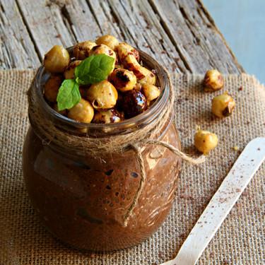 Receta de pudding de chía, café y chocolate, ¿desayuno o postre?