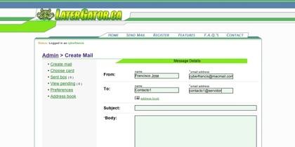 LaterGator, enviando correos y postales electrónicas a fechas futuras