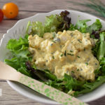 Ensalada de pollo al curry. Receta saludable
