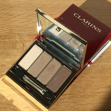 Probamos la paleta de cuatro sombras ojos 03 brown de Clarins